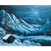 1 Hour Single Painting DVD - Winter Nocturne