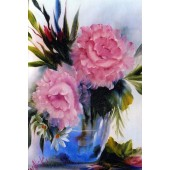 Bob Ross Floral Packet - Pink Roses Glass