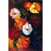 Bob Ross Floral Packet - Basket of Tulips