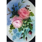 Bob Ross Floral Packet - Oval Pink Rose