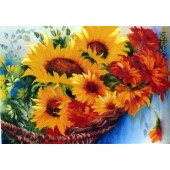 Bob Ross Floral Packet - Basket Sunflower