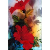 Bob Ross Floral Packet - Red Hibiscus