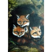 Bob Ross Wildlife Packet - Baby Foxes