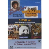Bob Ross Wildlife Painting 3 DVD Set