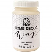 FolkArt Home Decor White Wax, 8 oz.