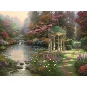 The Garden of Prayer, Thomas Kinkade Paint by Number 16 x 20, Plaid FolkArt