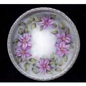 Pink Clematis Basket Tray by Mary Wiseman
