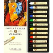 12 Pc. Introductory Oil Pastel Set, Sennelier
