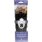 Majestic 8 Piece Shader/Wash Brush Set