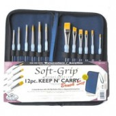 Keep n' Carry Soft Grip Brush Set