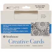 Strathmore Creative Cards - 20 Palm Beach White with Plain Edge Cards and Envelopes