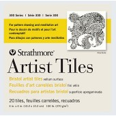 "4"" x 4"" 300 Series Strathmore Artist Tiles, 20 Pack"