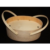 Deep Oval Bentwood Carry-All w/ Shelf and Lid
