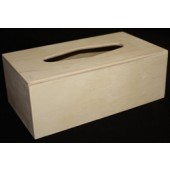 Wood Rectangular Tissue Cover