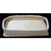 9 inch x 13 inch Rectangle Wicker and Birch Tray