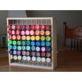 Wood and Wire Paint Rack