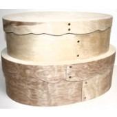 Scalloped Bentwood Super-Oval Hat Box