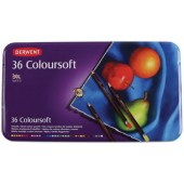 Derwent Coloursoft Colored Pencils, Set of 36