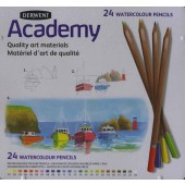 Derwent Academy Watercolour Pencil Tin, Set of 24