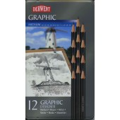 Derwent Graphic Designer Set of 12 Medium Pencils