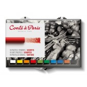 10 Assorted Conte Soft Pastels