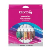 Reeves Gouache Set, 18 Tube