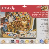 Reeves Senior Acrylic Paint by Numbers - The Artist's Cat