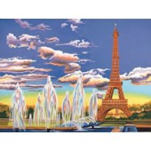 Eiffel Tower, Reeves Senior Painting by Number
