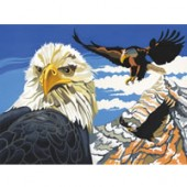 Soaring Eagles, Reeves Senior Paint by Number