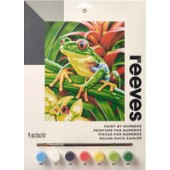 Tree Frog, Reeves Medium Paint by Number Set