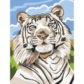 White Tiger, Medium Paint by Number