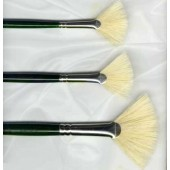 Winton Hog Bristle Long Dark Green Handle - Fan Brushes