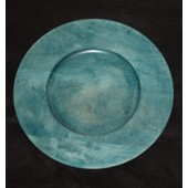 "12"" Wood Charger Plate, Sea Blue"
