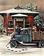 Rural Post Office, Rockwell Plaid PBN