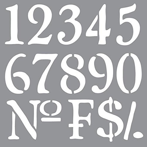 Olde World Numbers Americana Stencil Décor