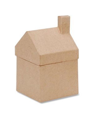 Large Paper Mache House Box