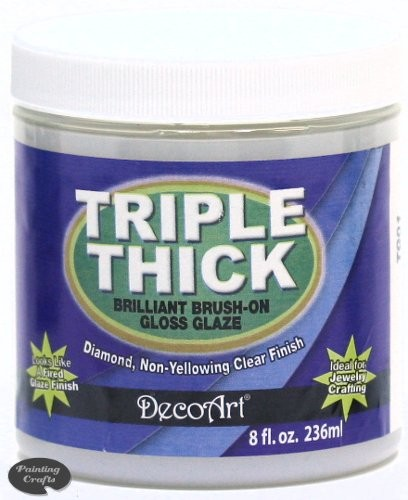 Deco Art Triple Thick Gloss Glaze, 8 oz Jar