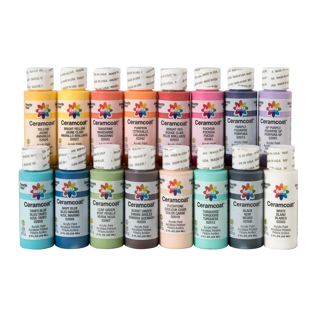 Delta Ceramcoat Acrylic Paints 2 Oz Bottle Painting Crafts Division Of Hofcraft The Painters Source