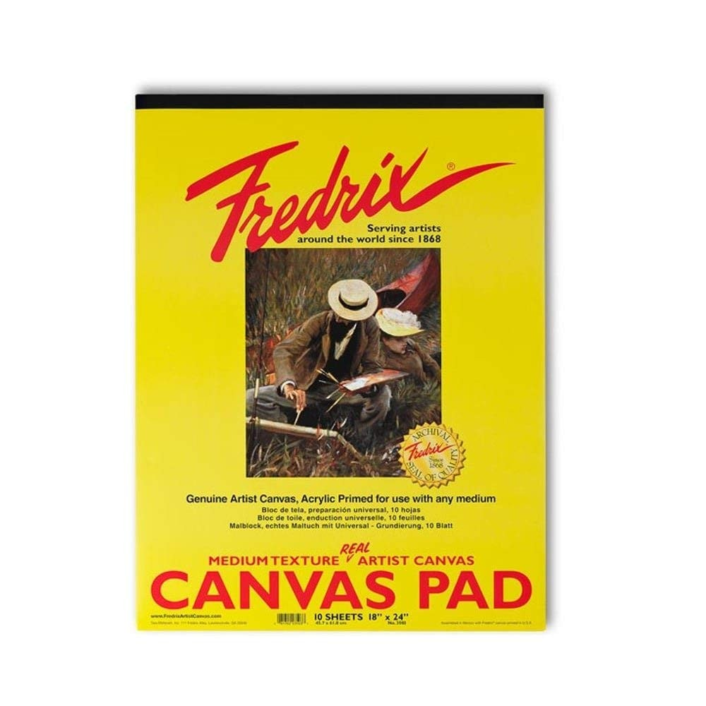 Fredrix Canvas Pad 10 - Sheets 16 inches x 20 inches