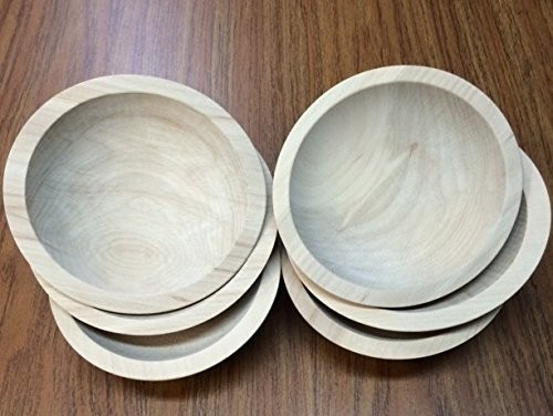 """6"""" First Quality Beech Bowls, Unfinished - Set of 6"""