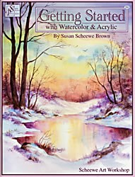 Getting Started with Watercolor and Acrylic Front Cover by Susan Scheewe