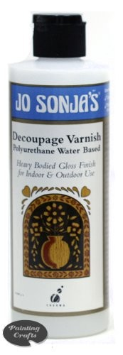 Jo Sonja Decoupage Varnish, 8 oz bottle