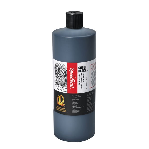 Super Black India Ink, 16 oz., Speedball
