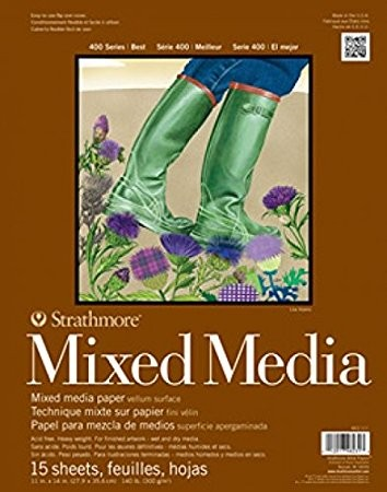 Strathmore Mixed Media Paper Pad, 9 x 12 inch