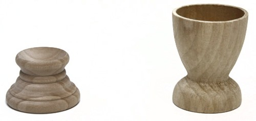 Goose and Hen Wood Egg Holders