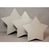Paper Mache Large Star Boxes, Set of 3