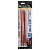 General's Pastel Chalk Pencil Set, Cool Colors