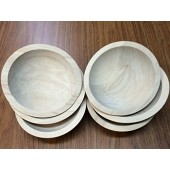 "6"" First Quality Beech Bowls, Unfinished - Set of 6"