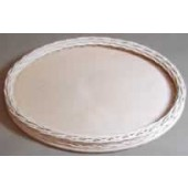11 inch Oval Shorty Wicker and Birch Tray