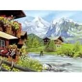 Reeves Senior Acrylic Paint by Numbers - Mountain Chalets